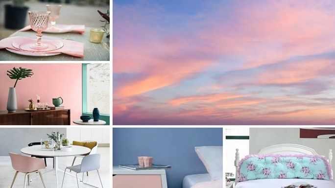 Розовый кварц и голубая безмятежность