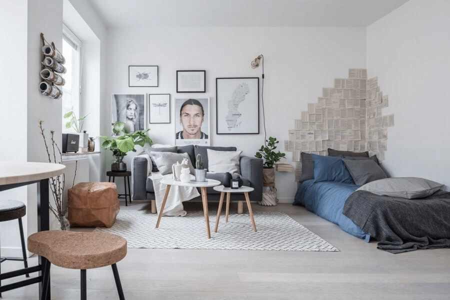 Гостиная в скандинавском дизайне
