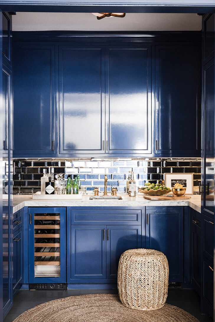Кухня в синем цвете
