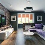 Зеленый цвет в дизайне зала