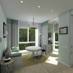 Светлая комната в квартире 70 кв м