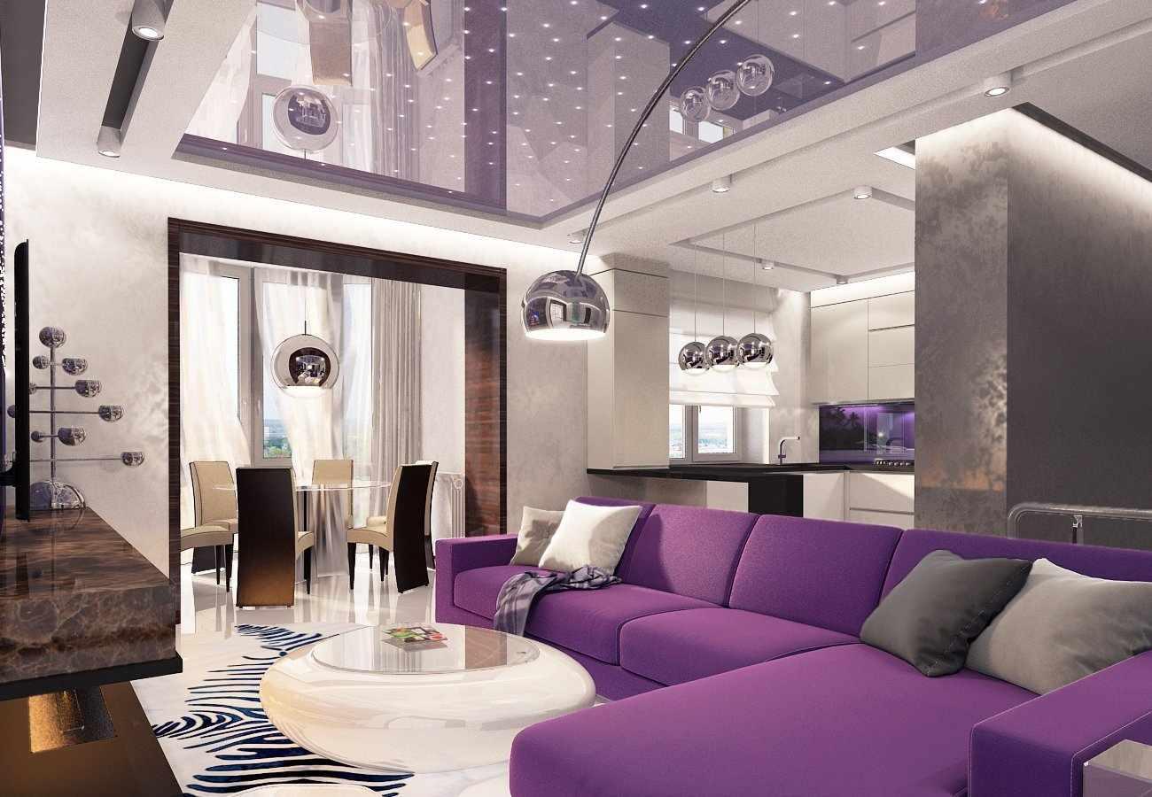 Фиолетовый в дизайне квартиры