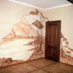 Уголок природы на стене