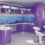 Сиреневая кухня