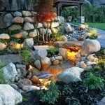Подсветка среди камней