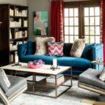 Синий диван в интерьере