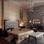Панели на стенах в спальне