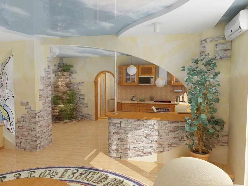 Овальная арка в квартире