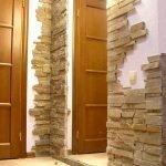 Облицовочный камень в интерьере квартиры