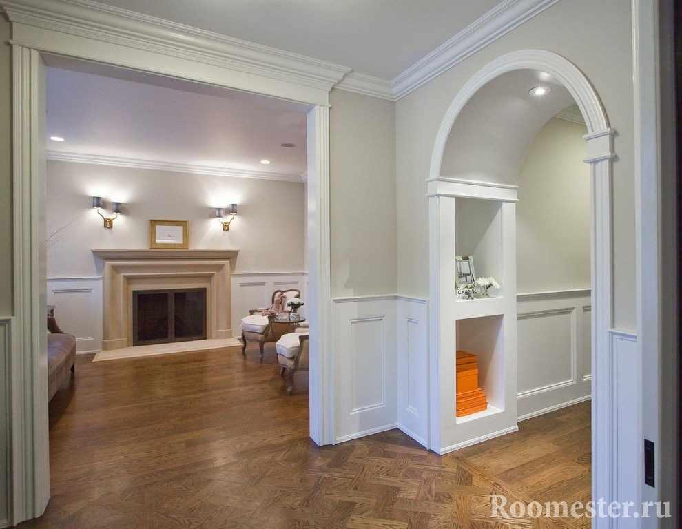 Полукруглая и прямоугольная арка в доме