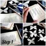 Вырезаем бабочек из страниц книги
