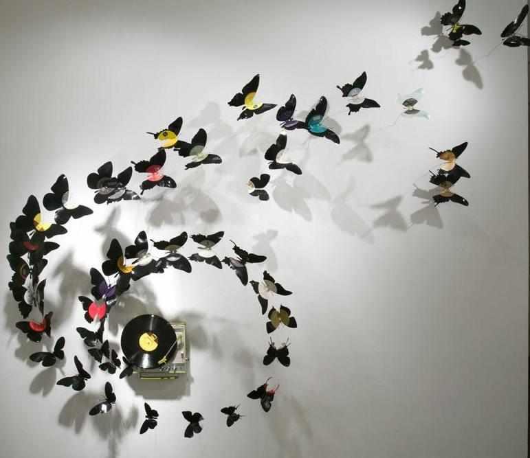 Бабочки из пластинок