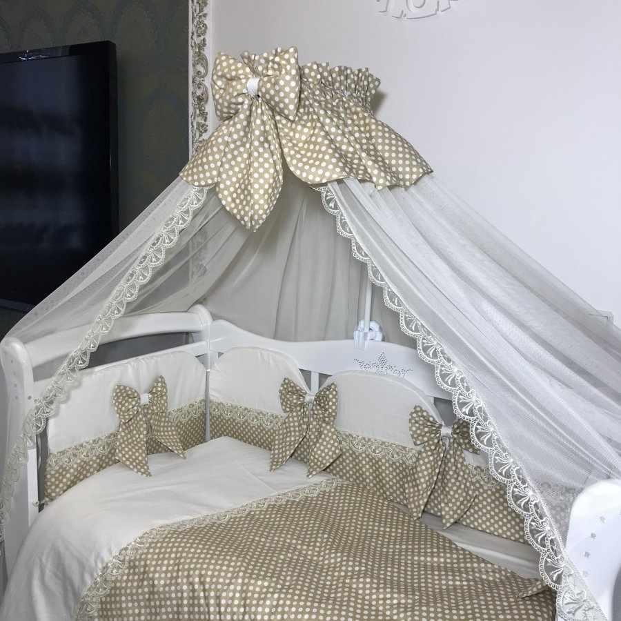 Декор балдахина детской кроватки