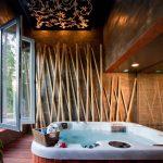 Бамбук в интерьере ванной