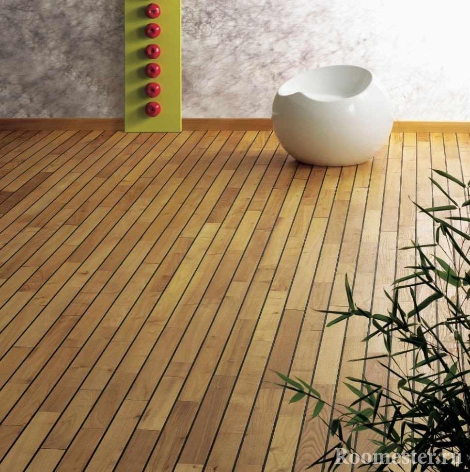 Бамбуковый паркет в комнате