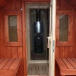 Мобильная баня: вид с фасада