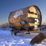 Банька на снегу