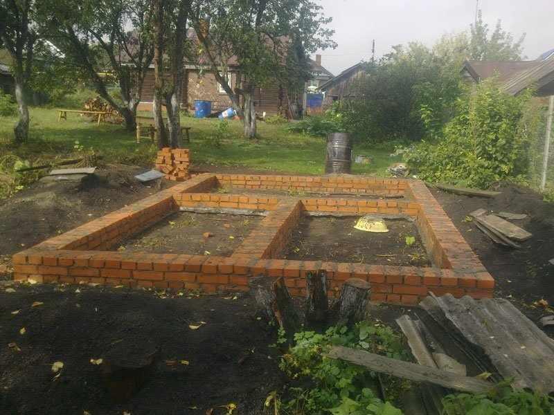 Фундамент для бани и террасы