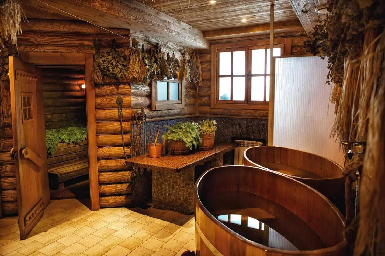 Зонирование помещения бани