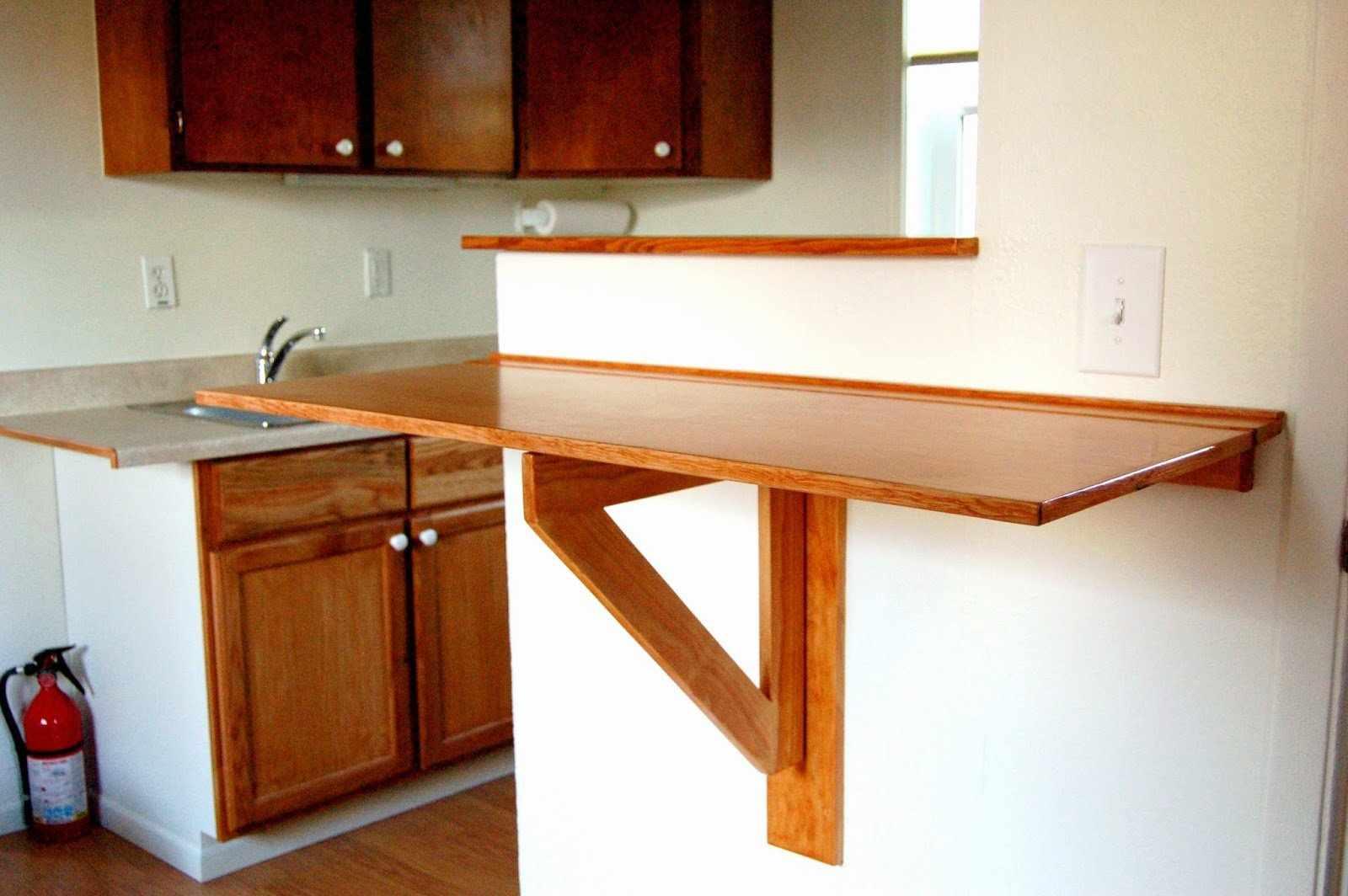 Складная барная стойка для маленькой кухни