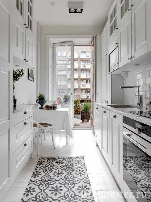 Длинная и узкая кухня