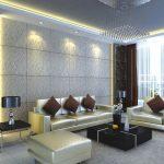Подсветка стен и потолка в гостиной