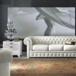 Спальня с белым диваном