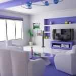 Бело-фиолетовая комната
