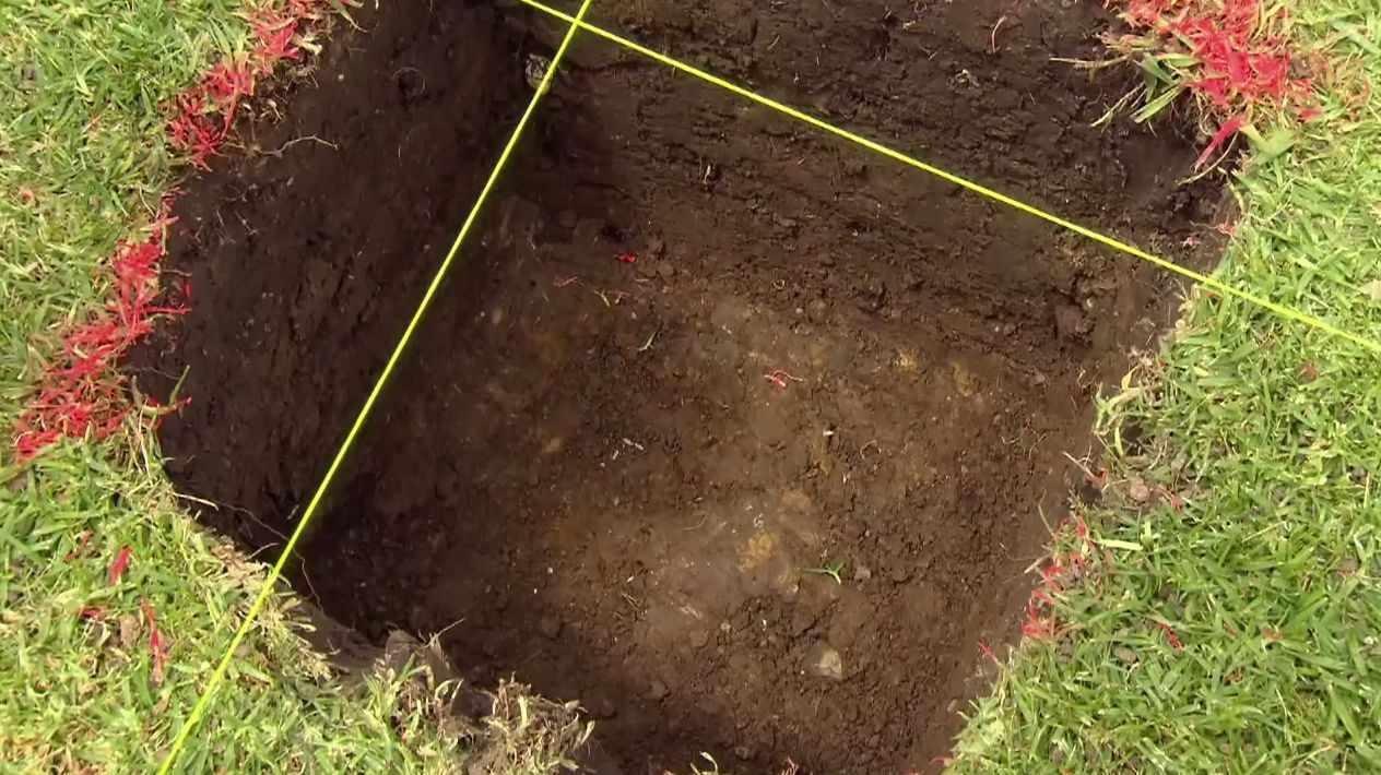 Выкопанная яма
