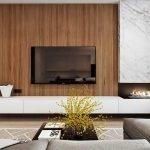 Сочетание мрамора и дерева в интерьере