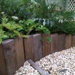 Бордюр садовый из дерева