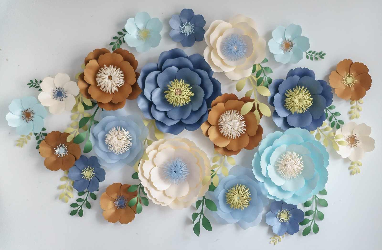 Декор из бумажных цветов