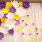 Цветы и бабочки на шторе