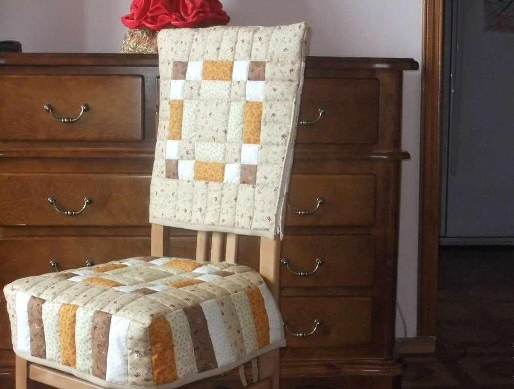 Чехол на стул в стиле печворк
