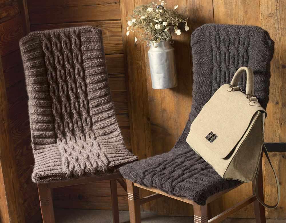 Цельный чехол на стул со спинкой