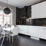 Текстиль для черно-белой кухни