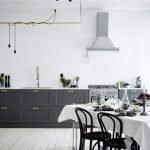 Дизайн черно-белой кухни