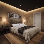 Черный потолок в спальне