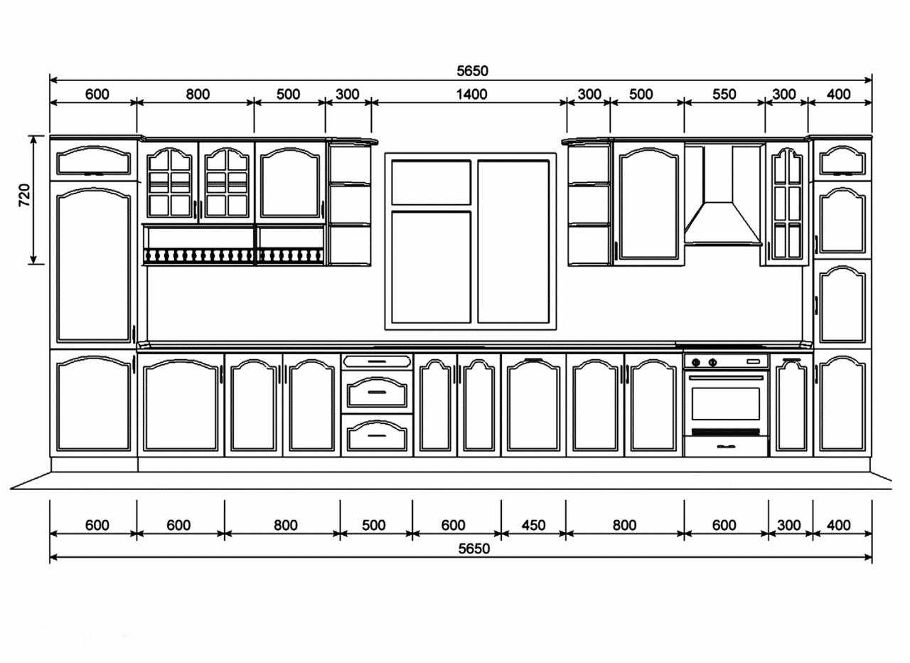 Проект кухонного фасада