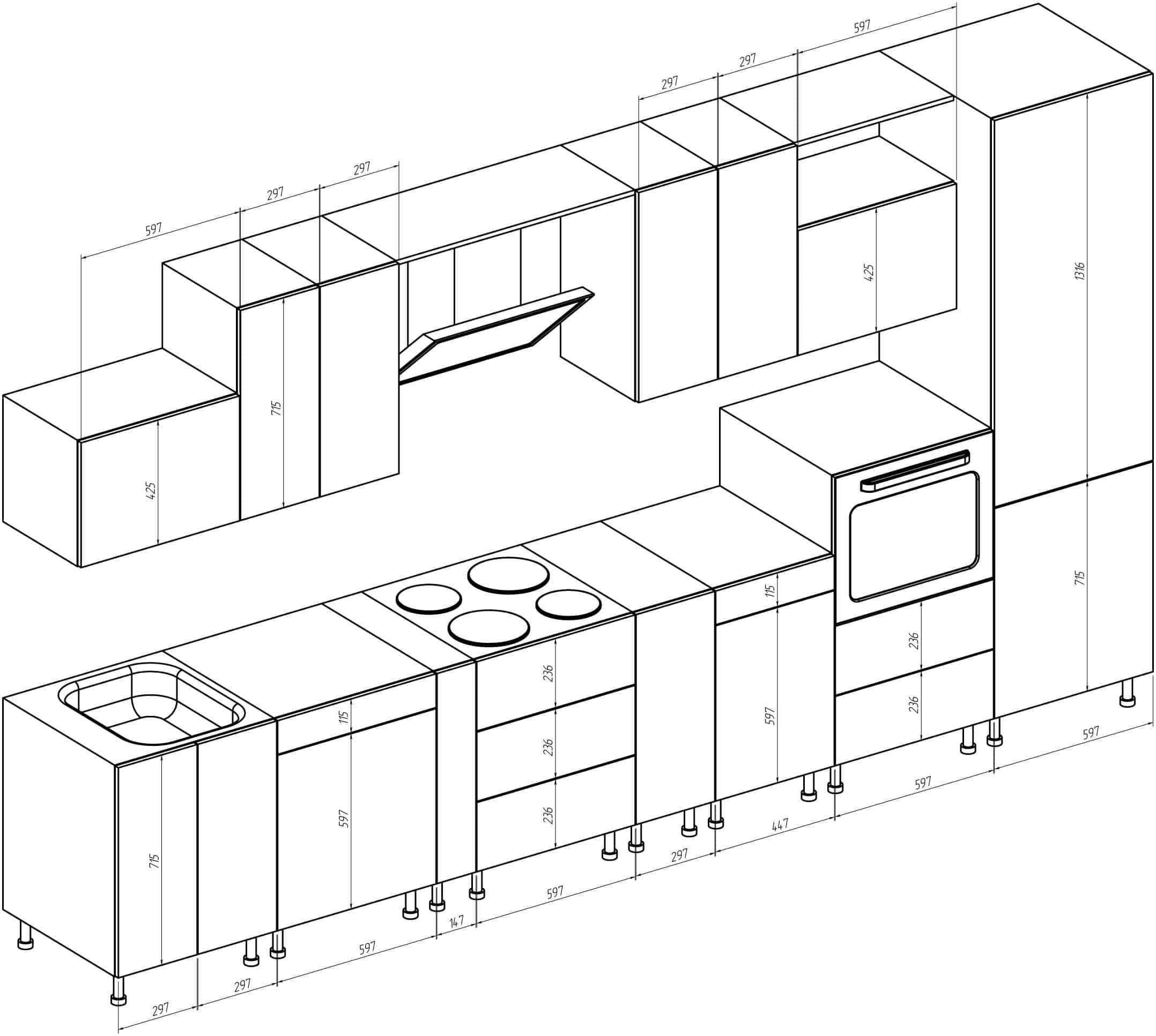 Размер шкафов