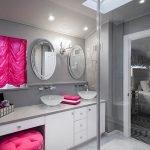 Серо-белая ванная