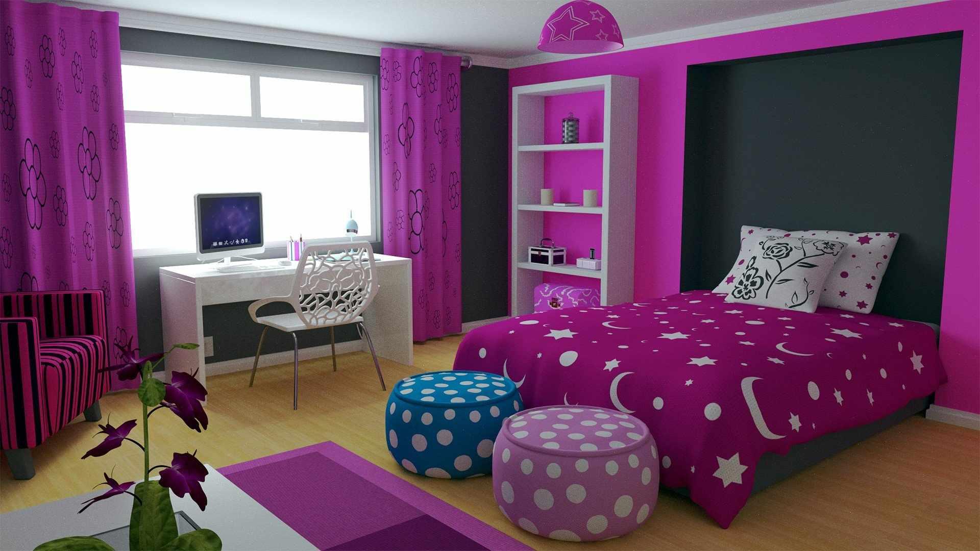 Пуфики в спальне
