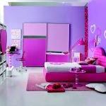 Сиренево-розовый интерьер