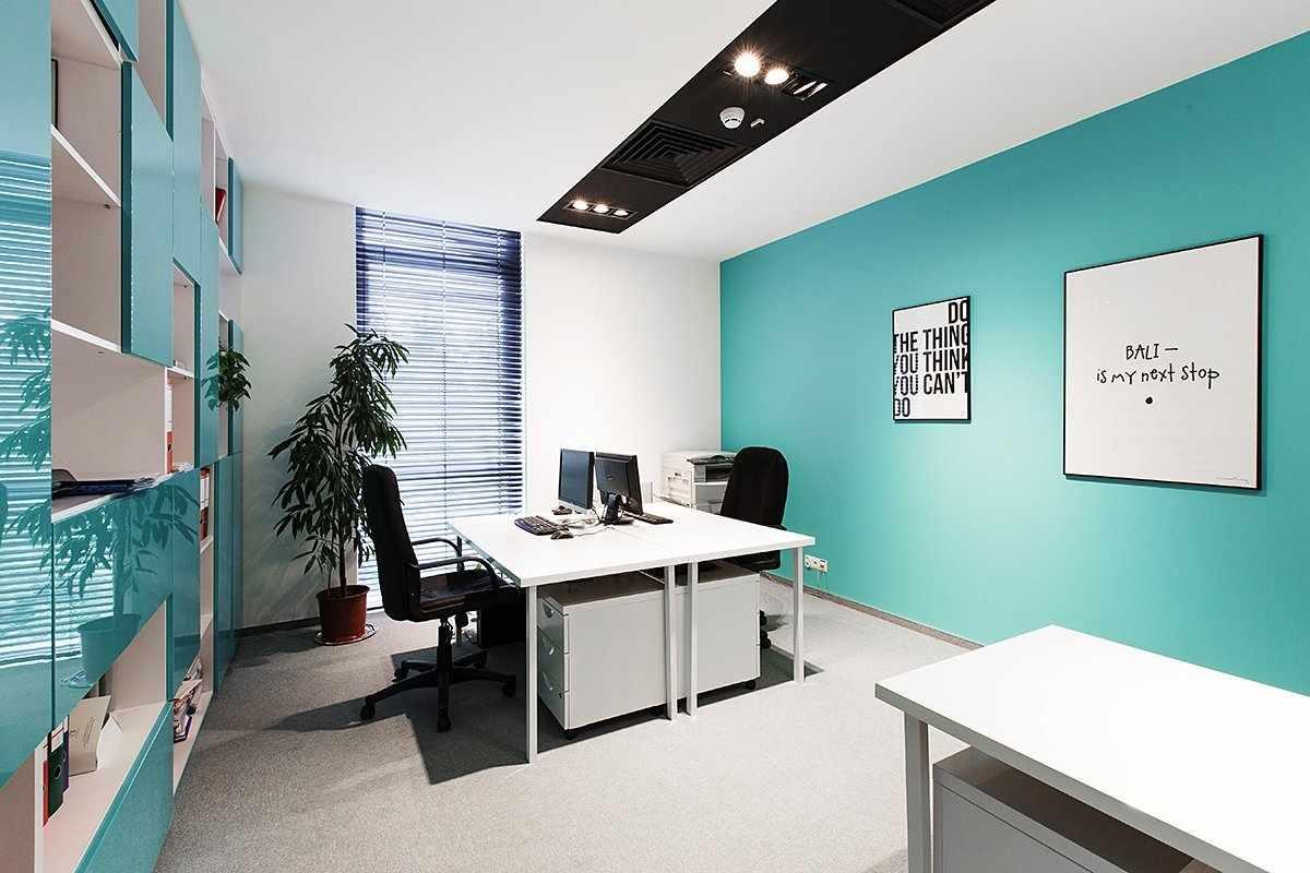 Цвет Тиффани в рабочем кабинете