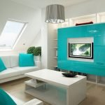 Мебель и текстиль цвета Тиффани в интерьере
