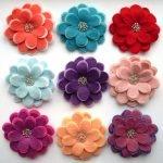 Цветы сделанные из фетра