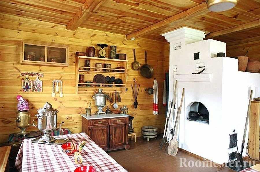 Русская печь в кухне