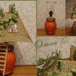 Лампа декорированная под домик
