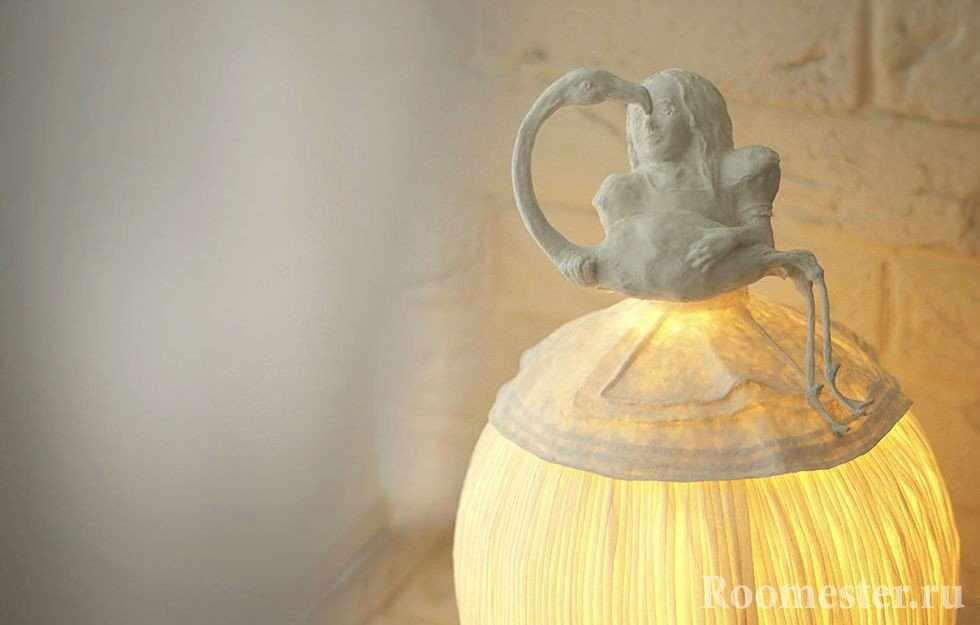 Необычный абажур из папье-маше