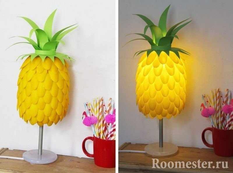 Настольная лампа в виде ананаса